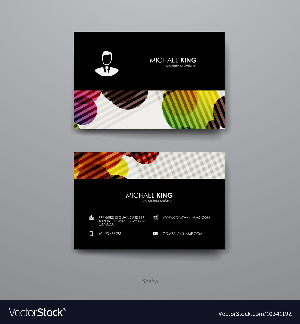 Set of Design Business Card Template in abstract