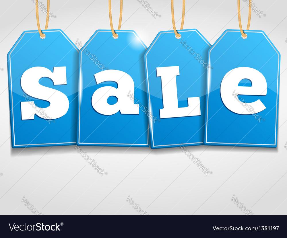 Blue Sale Tags
