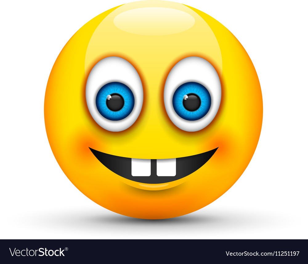 Buck teeth emoji vector image