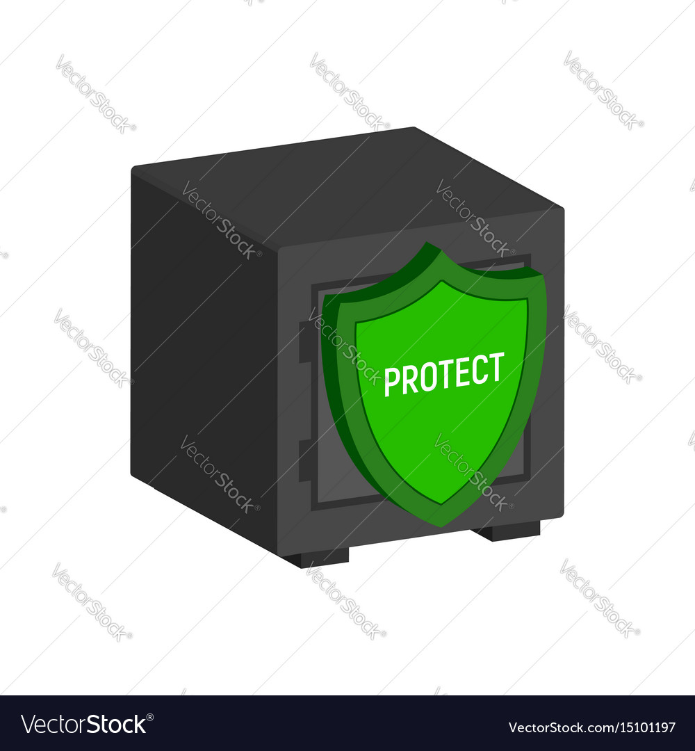 Metal safe with shield financial protection