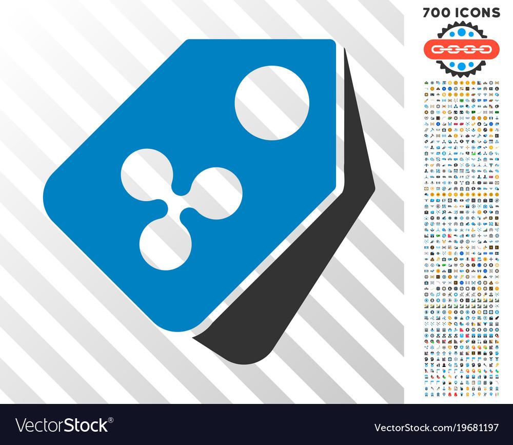 Ripple price tags flat icon with bonus vector image on VectorStock