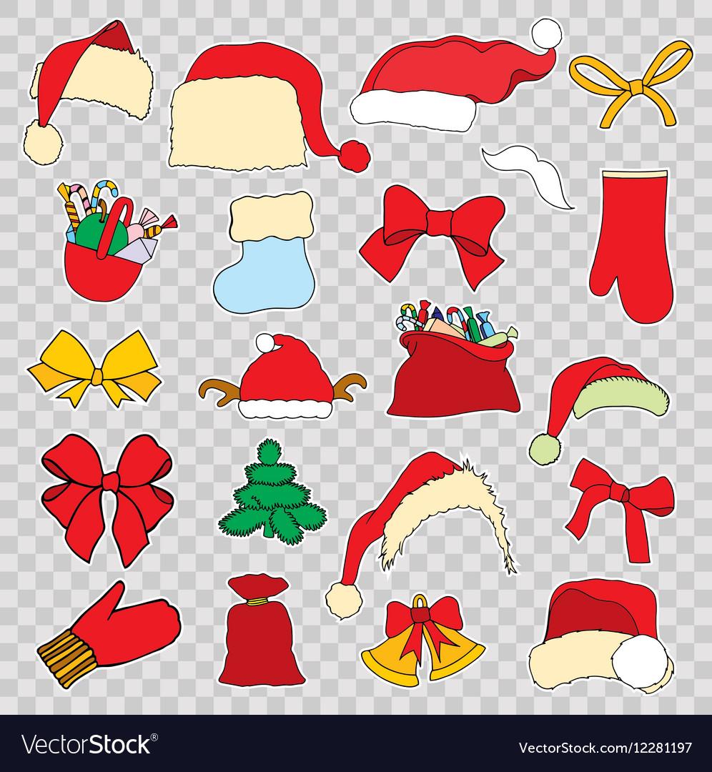 Christmas Set.Set Doodle Christmas Objects