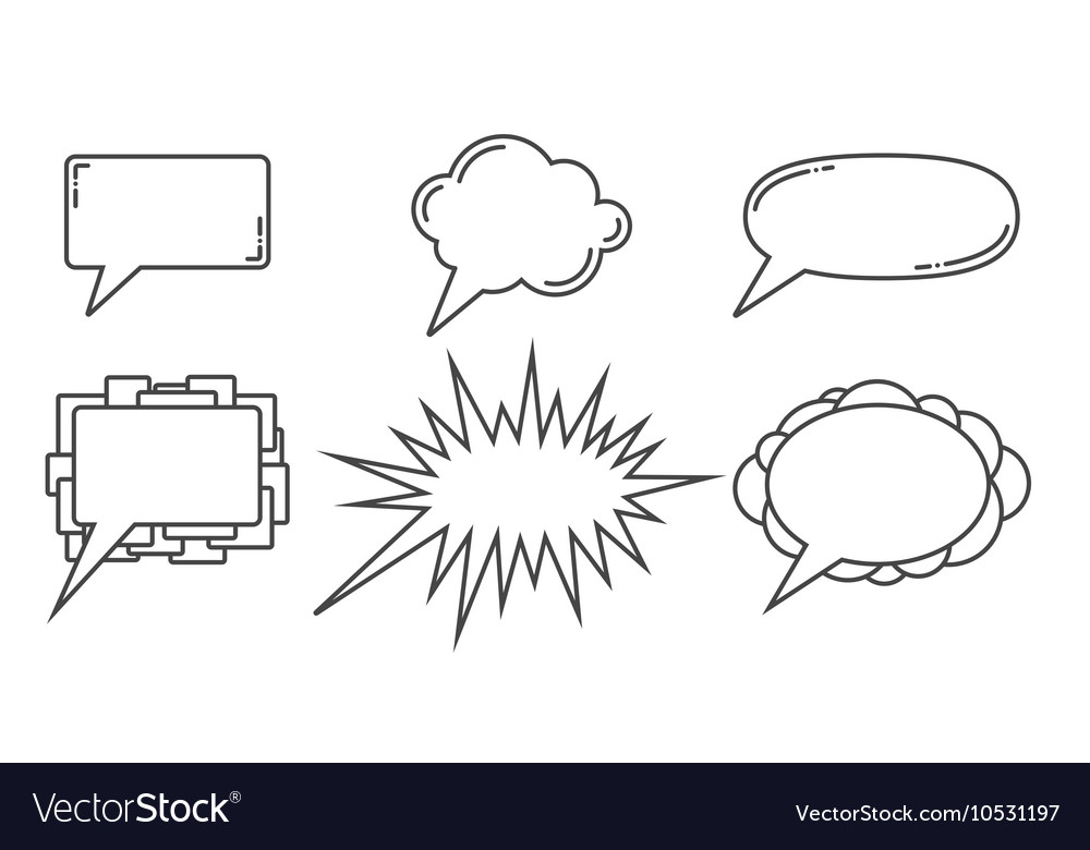 Speech bubbles examples