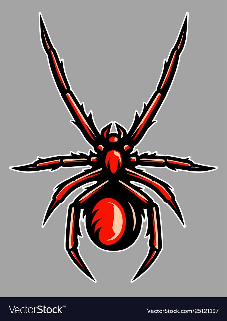 Venomous spider tarantula mascot
