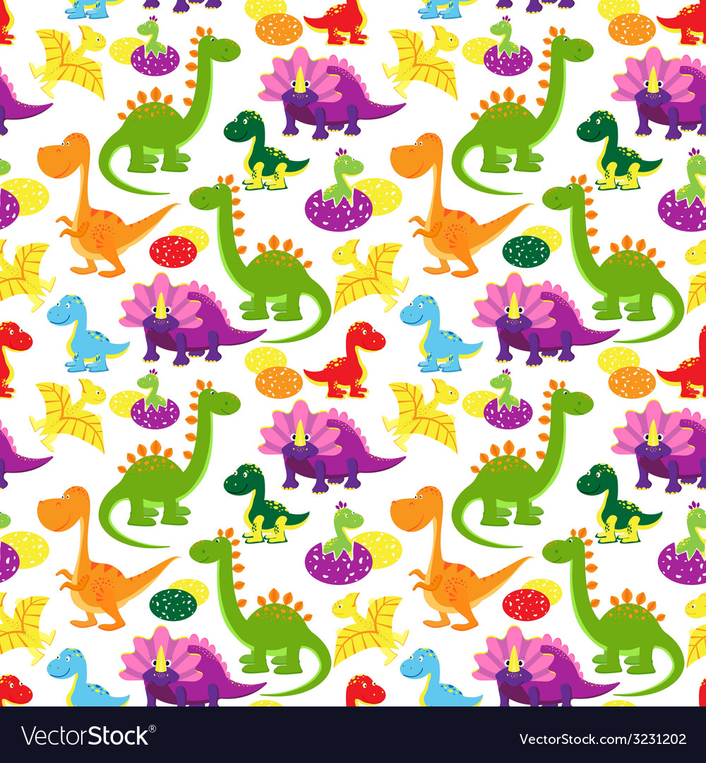 Baby dinosaurs pattern