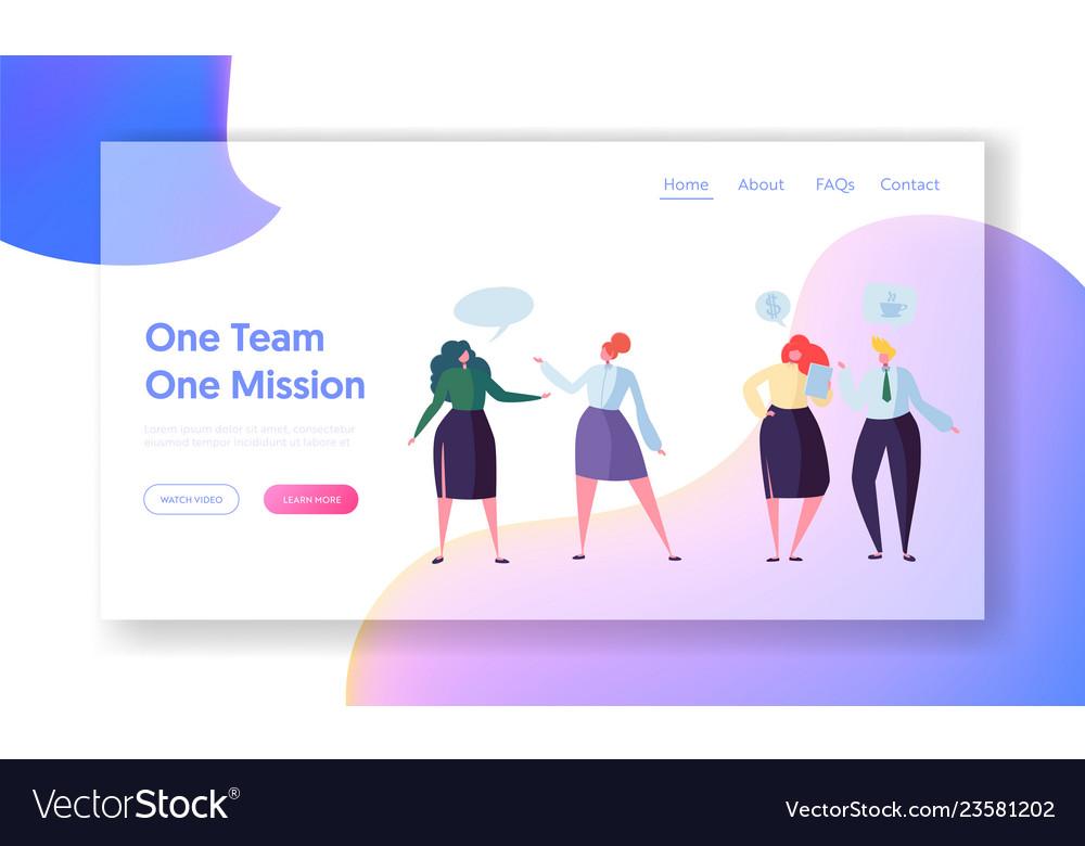 Business people teamwork communication web page