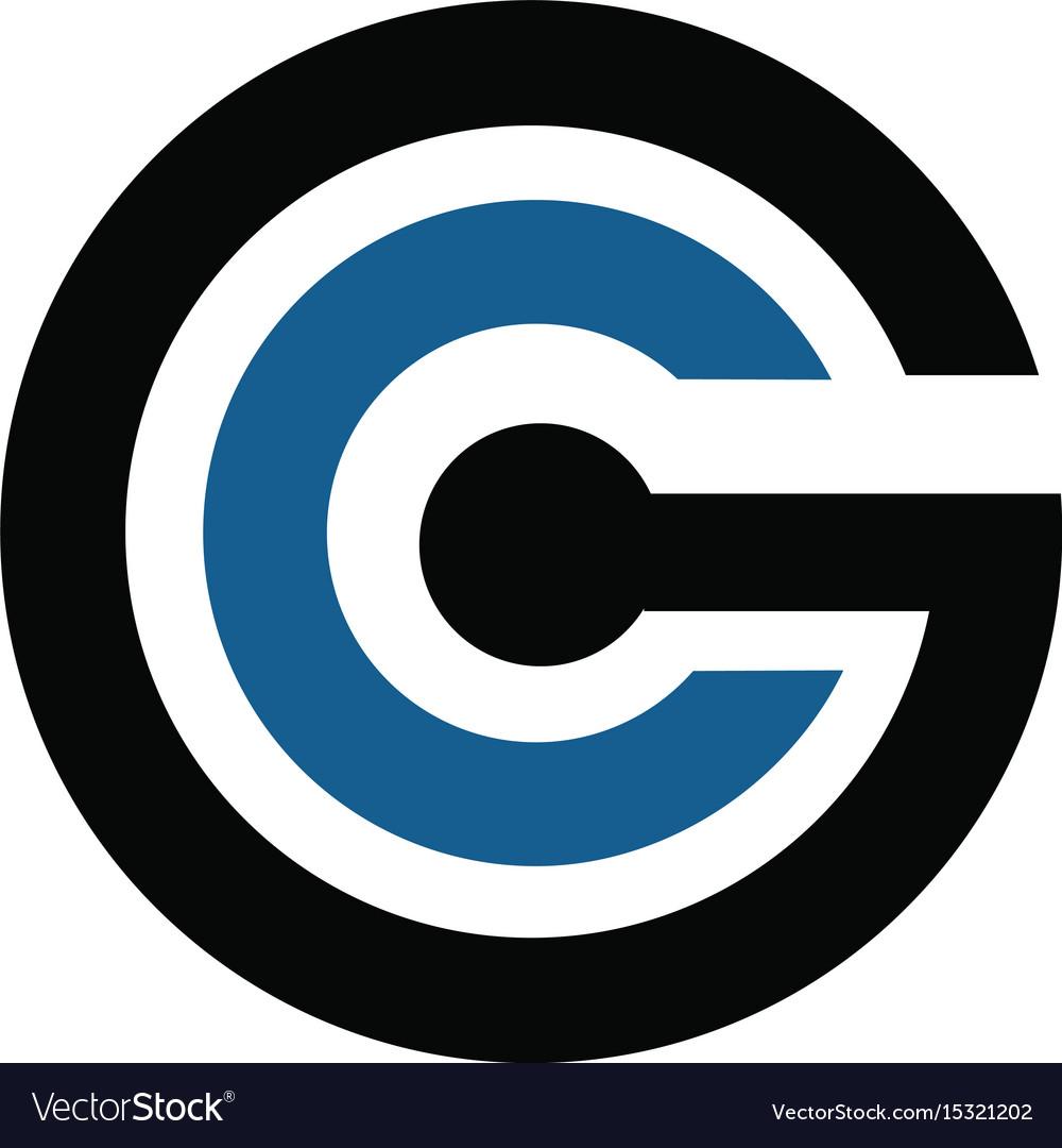Cg modern letter logo design template vector image