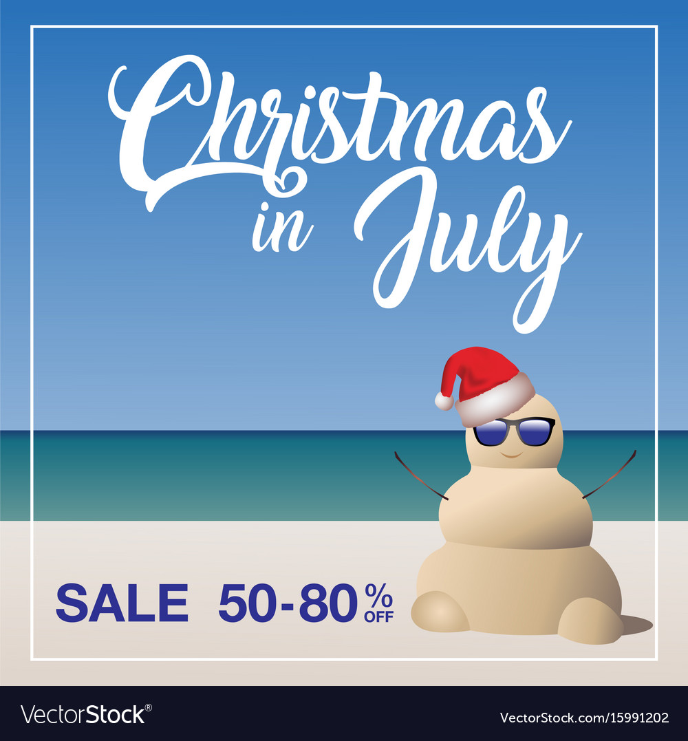 Christmas In July Sale Images.Christmas In July Sale Marketing Template