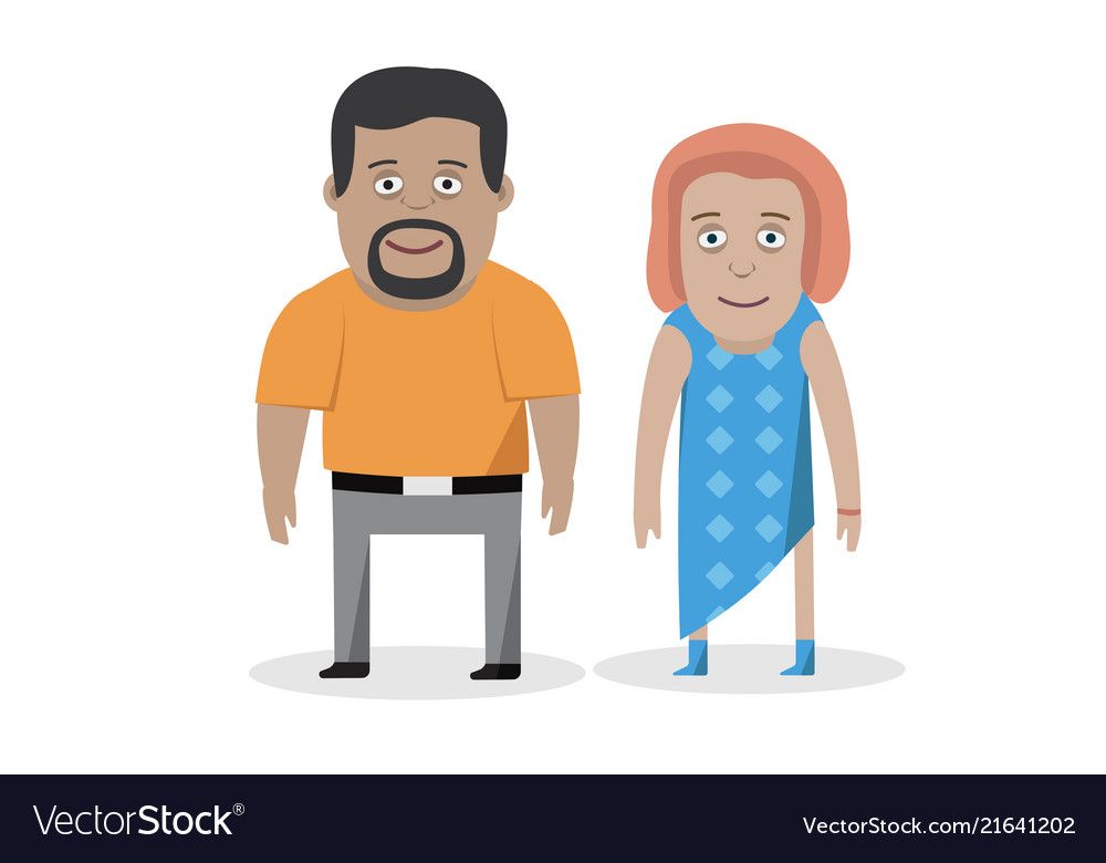 Couple man and woman family character