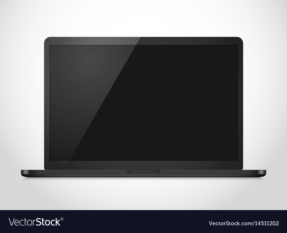 Modern laptop computer mockup notebook photoreal vector image