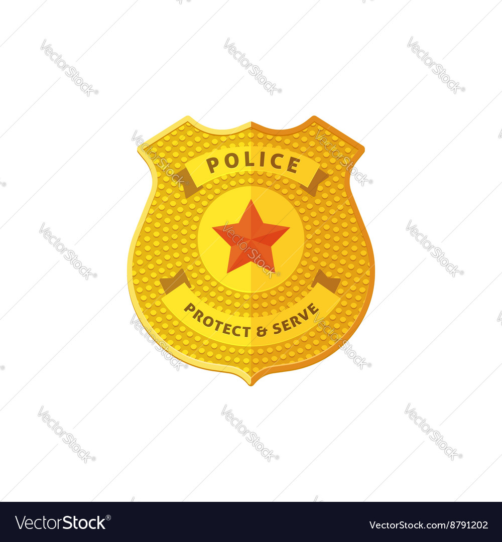 Police badge isolated on white