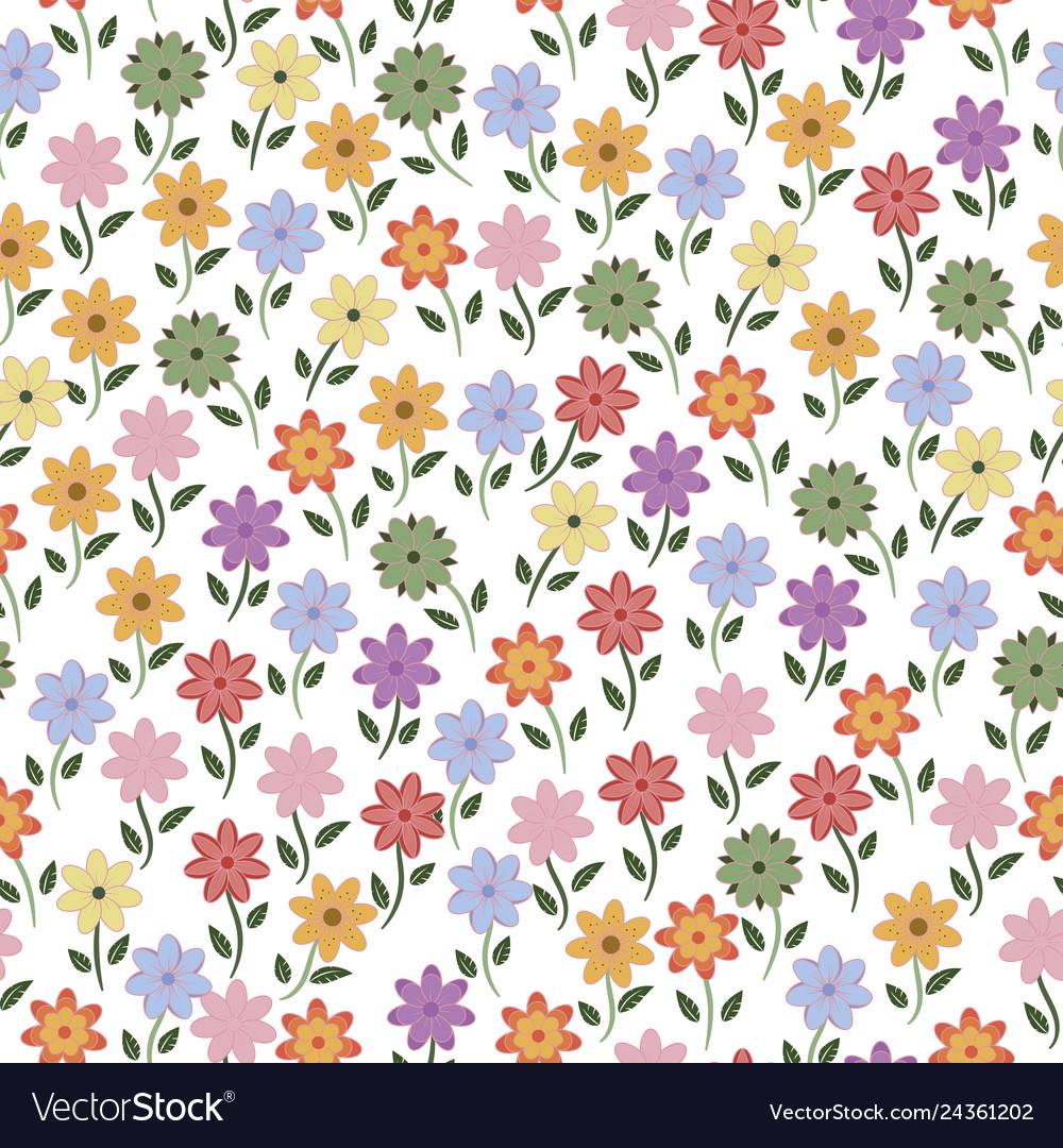Seamless flowers pattern background