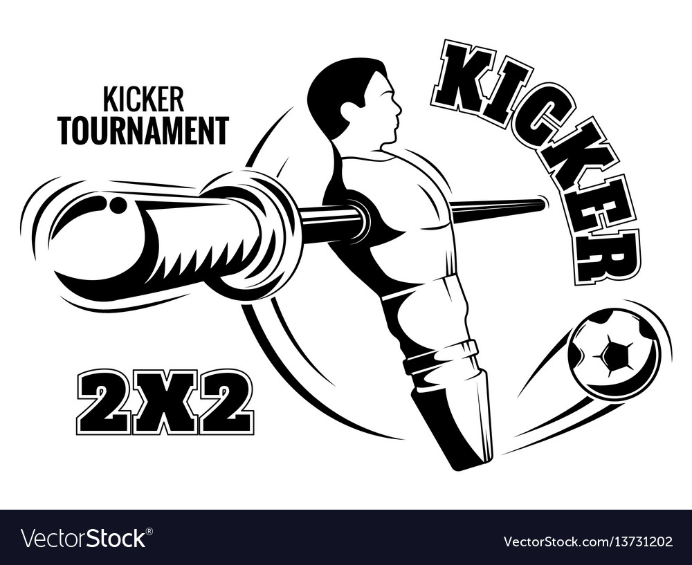 Table football emblem the kicker is a poster