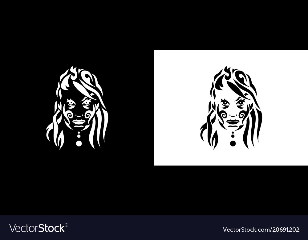 Tribal woman portrait woman portait in tribal vector image