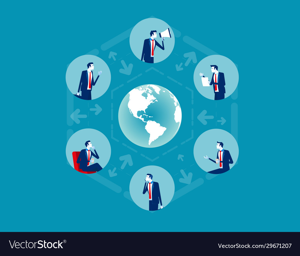 Business people communicate team concept business