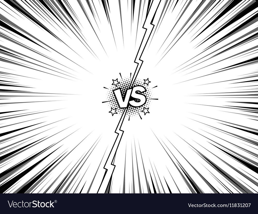 Comic versus battle intro vintage background vector image