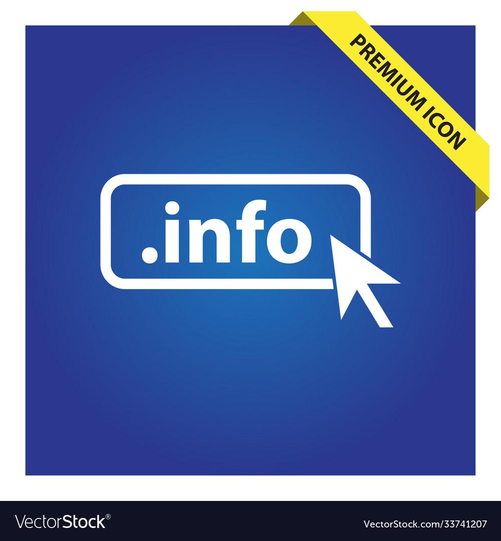 Domain info icon top-level internet