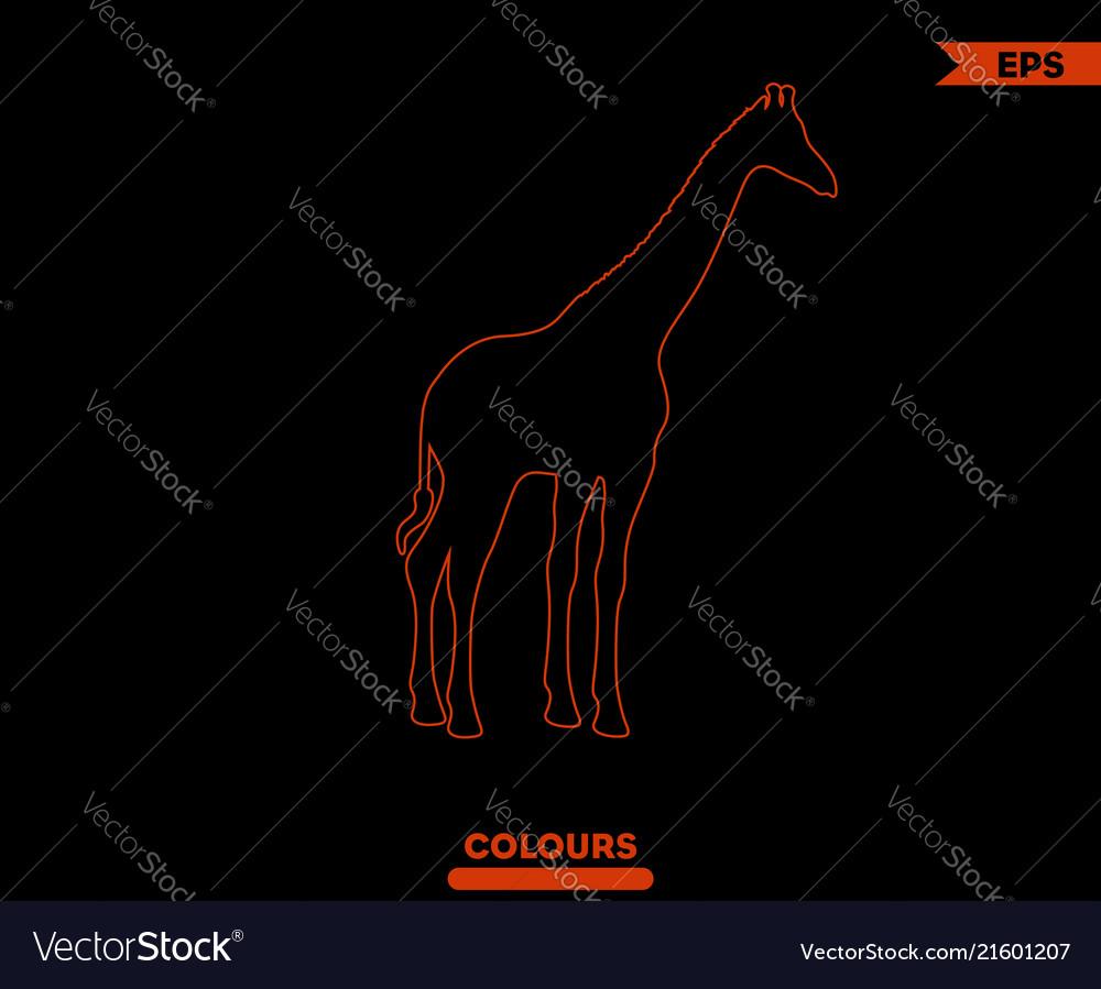 Giraffe silhouette logo