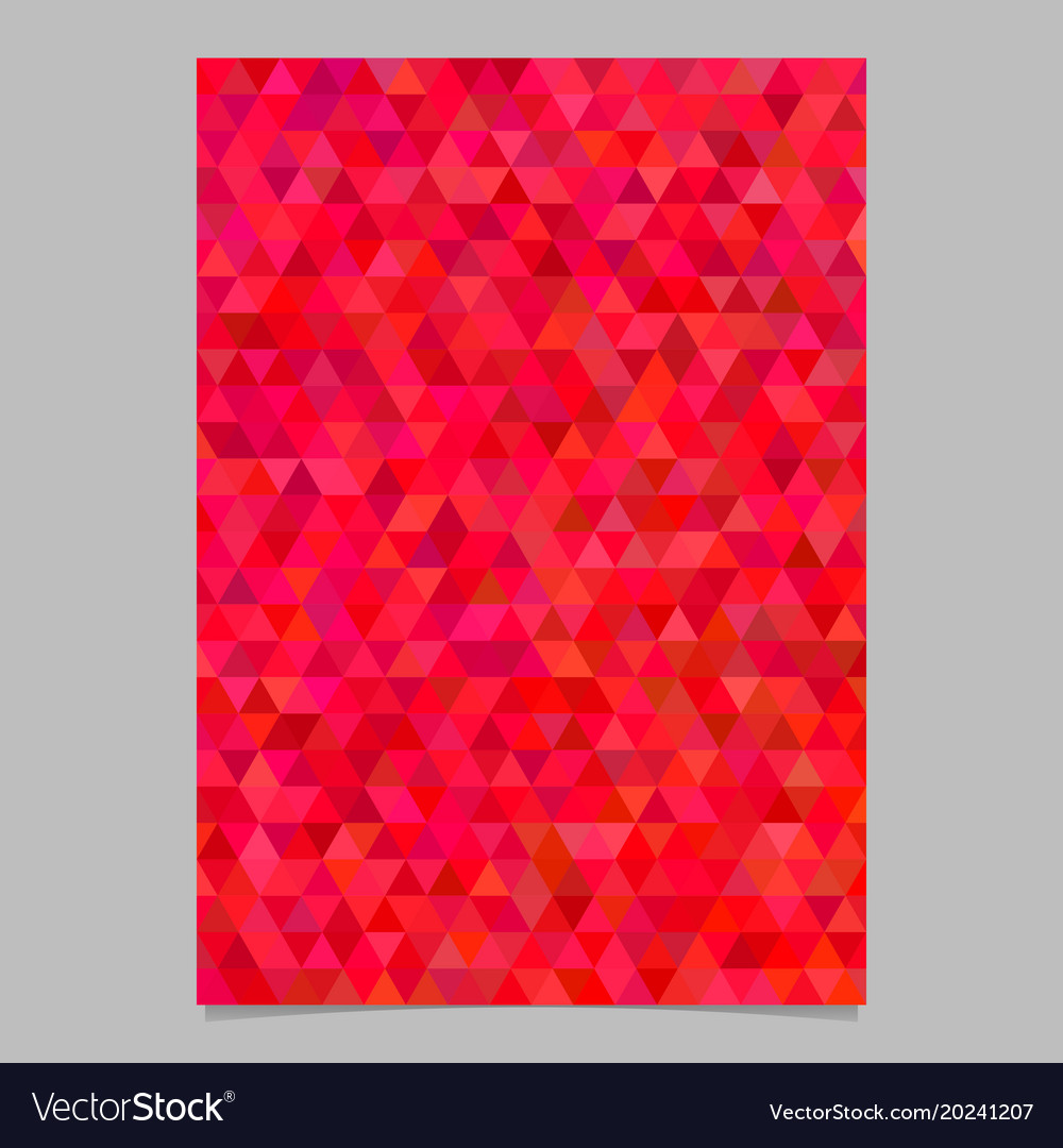 Red abstract brochure background template design