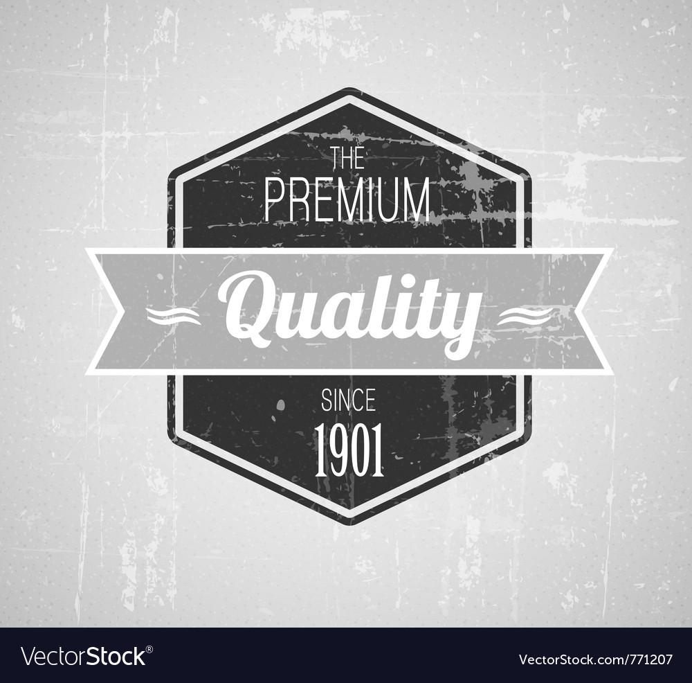 Retro vintage grunge label vector image