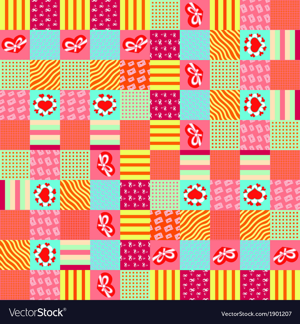 Valentines day square pattern