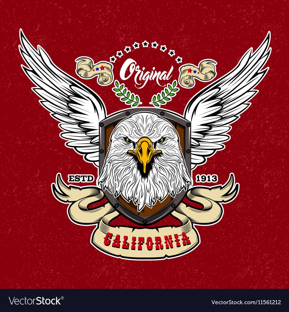 Eagle Vintage Style Logo vector image