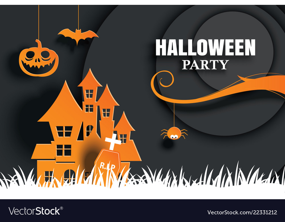 Halloween Party Invitations And Greeting Cards Vector Image