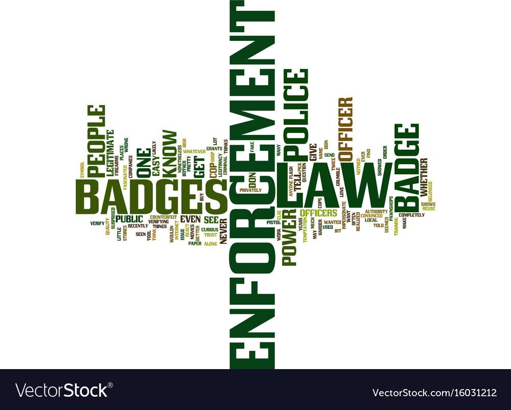 Law enforcement badges text background word cloud