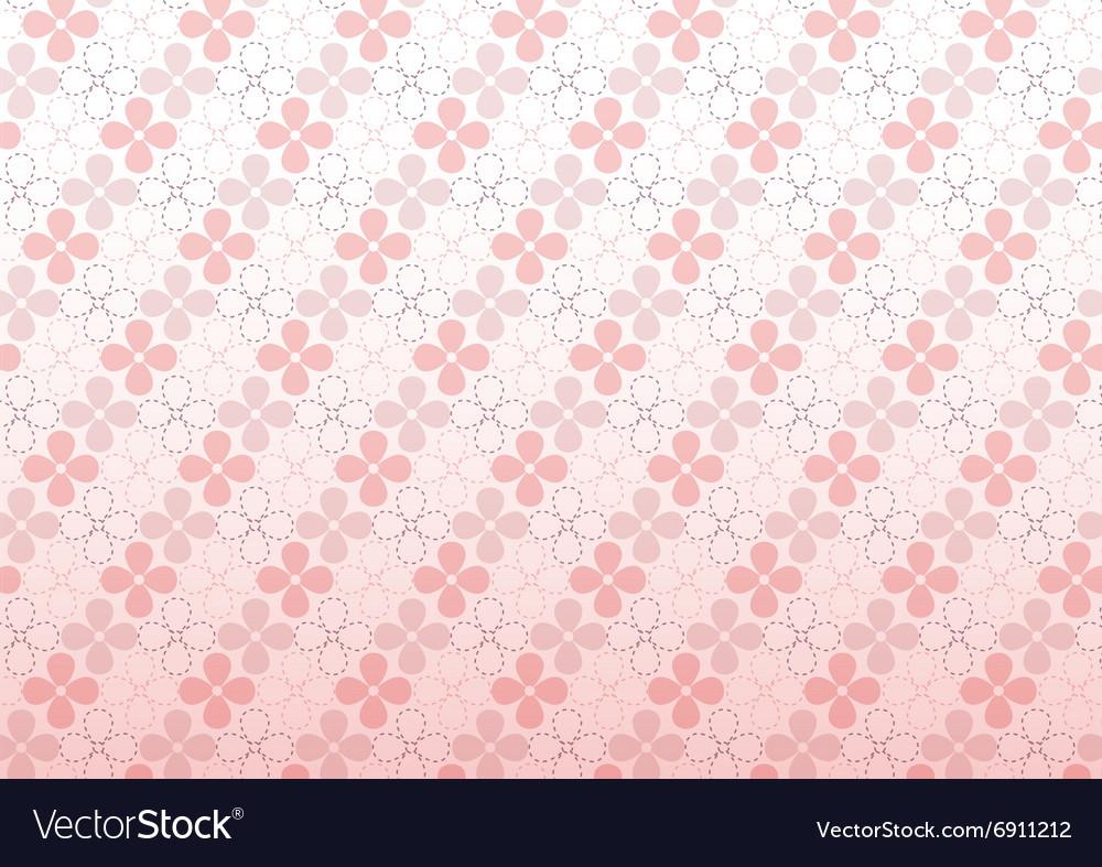 Pink flower seamless pattern