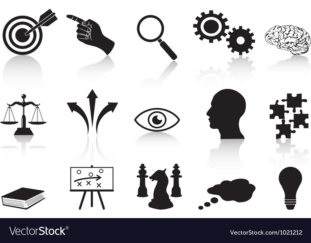 Strategy concepts icons set vector image