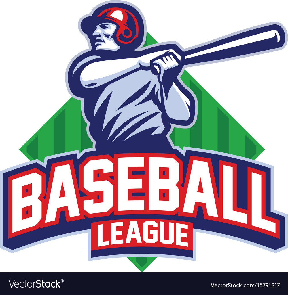 Baseball player hit the ball vector image