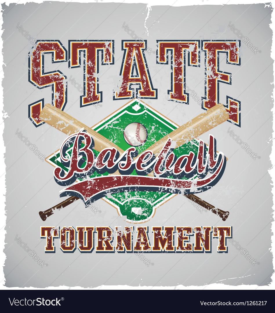 Baseball State tournament vector image