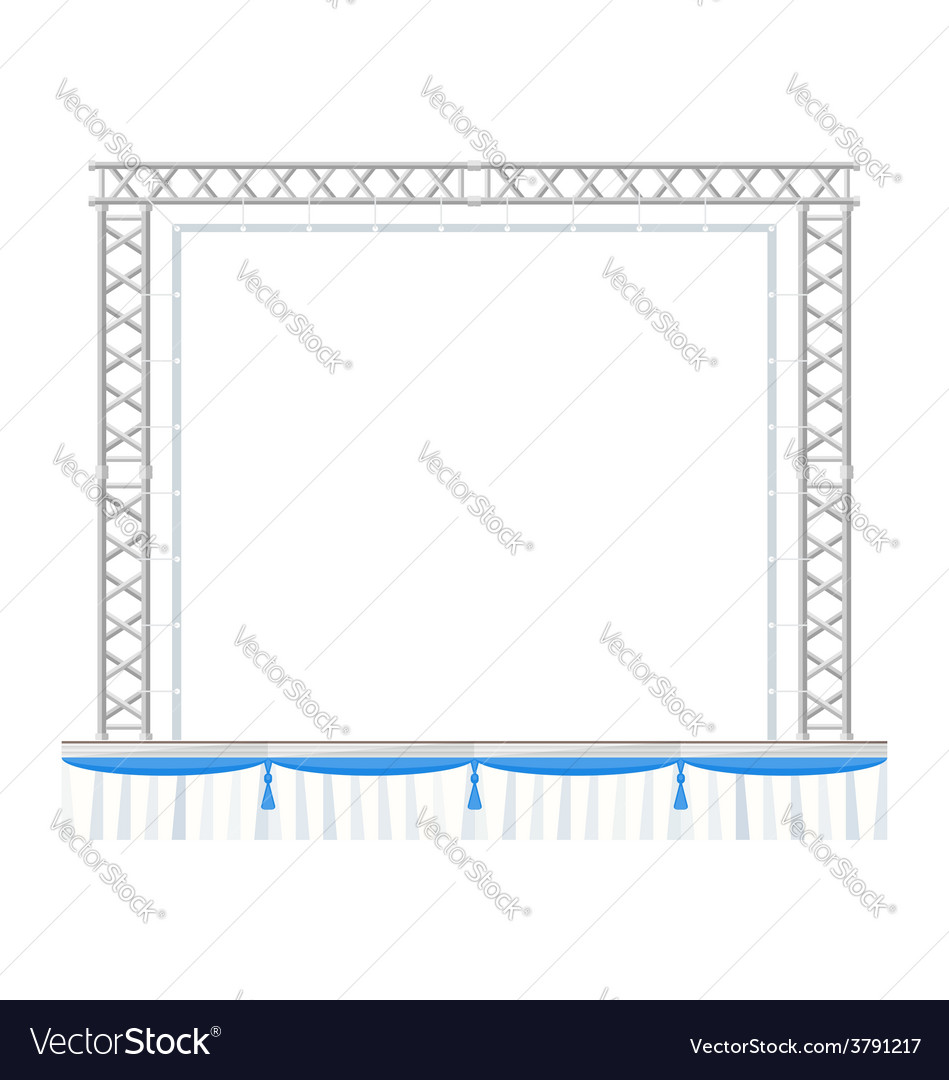 Color flat design sectional concert metal stage