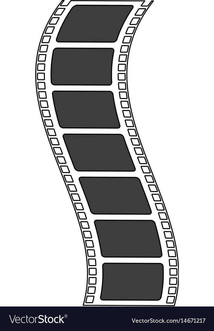 color silhouette image movie tape film icon vector image