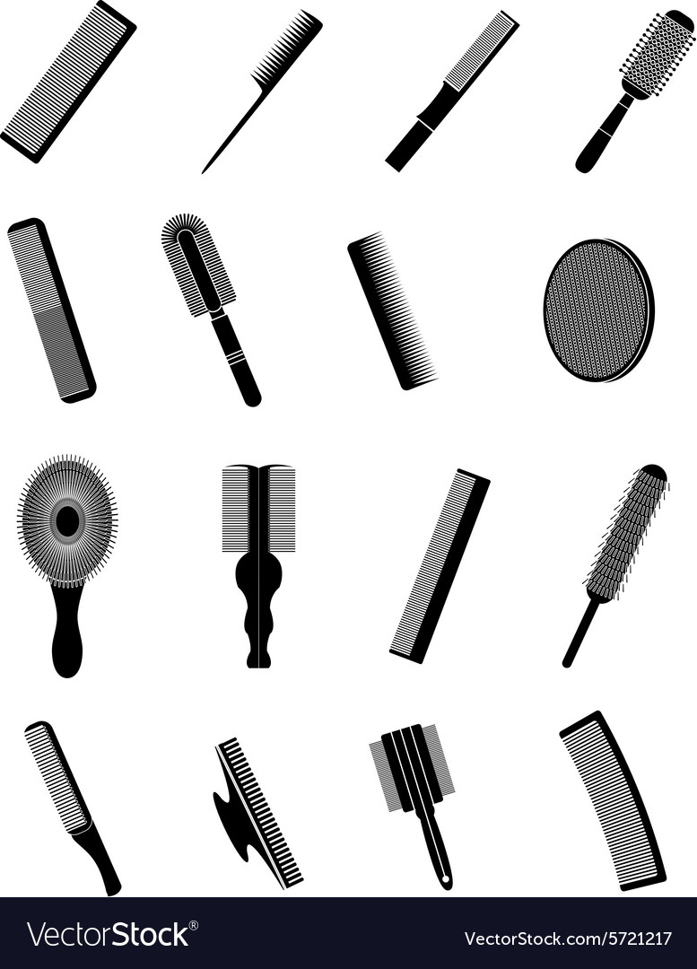 Combs icons set