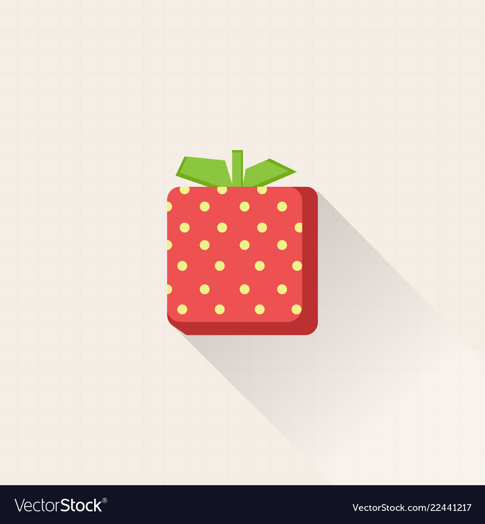 Design fresh strawberry icon with pastel grid