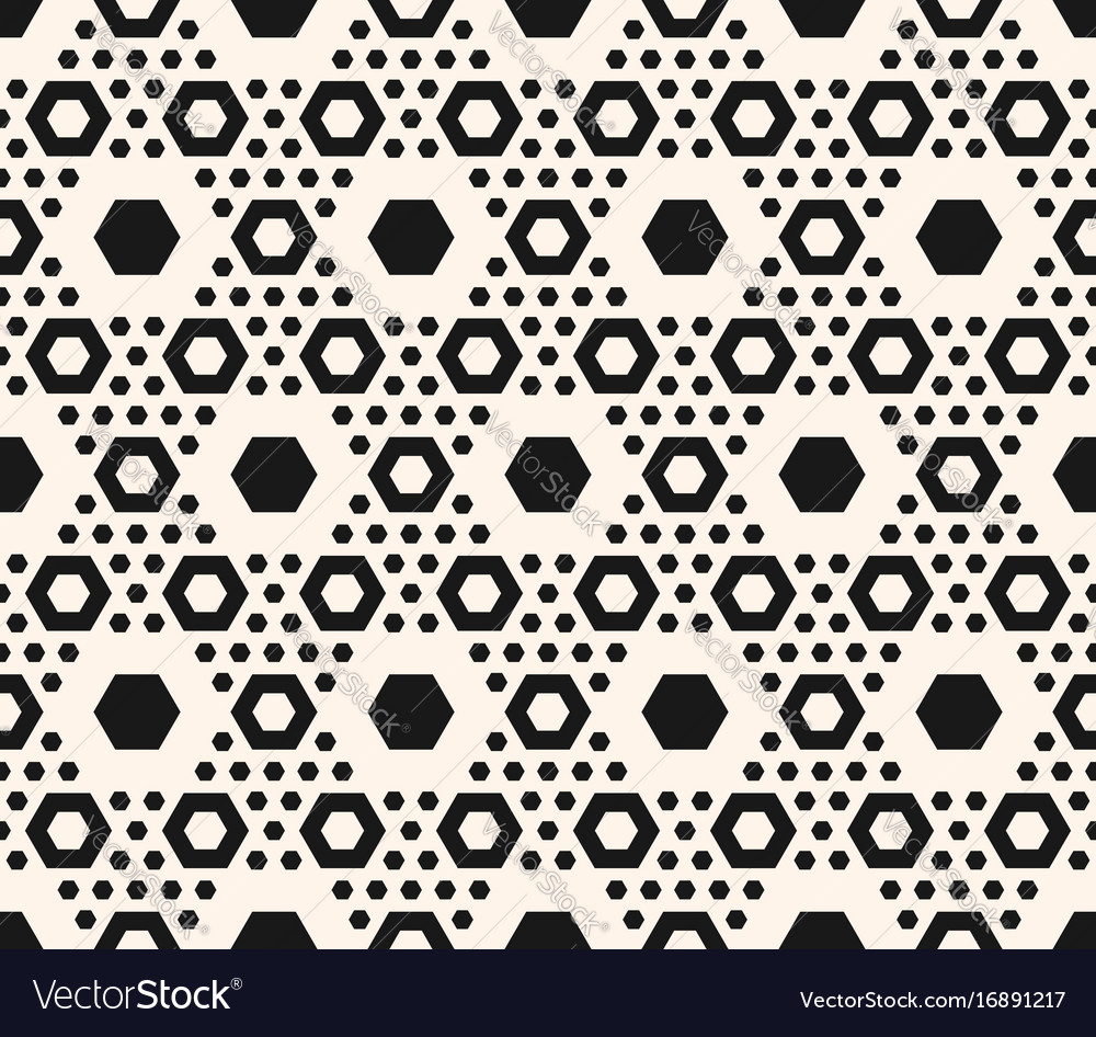 Geometric pattern hexagons in hexagonal grid