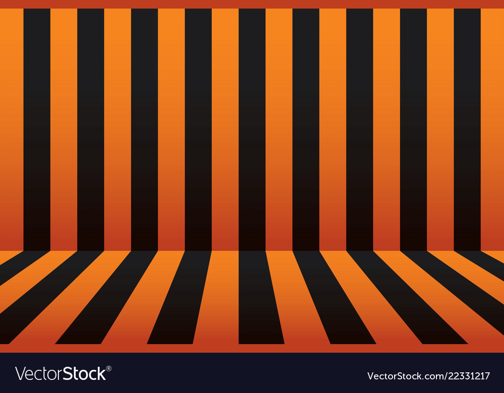 Halloween stripe room black and orange background