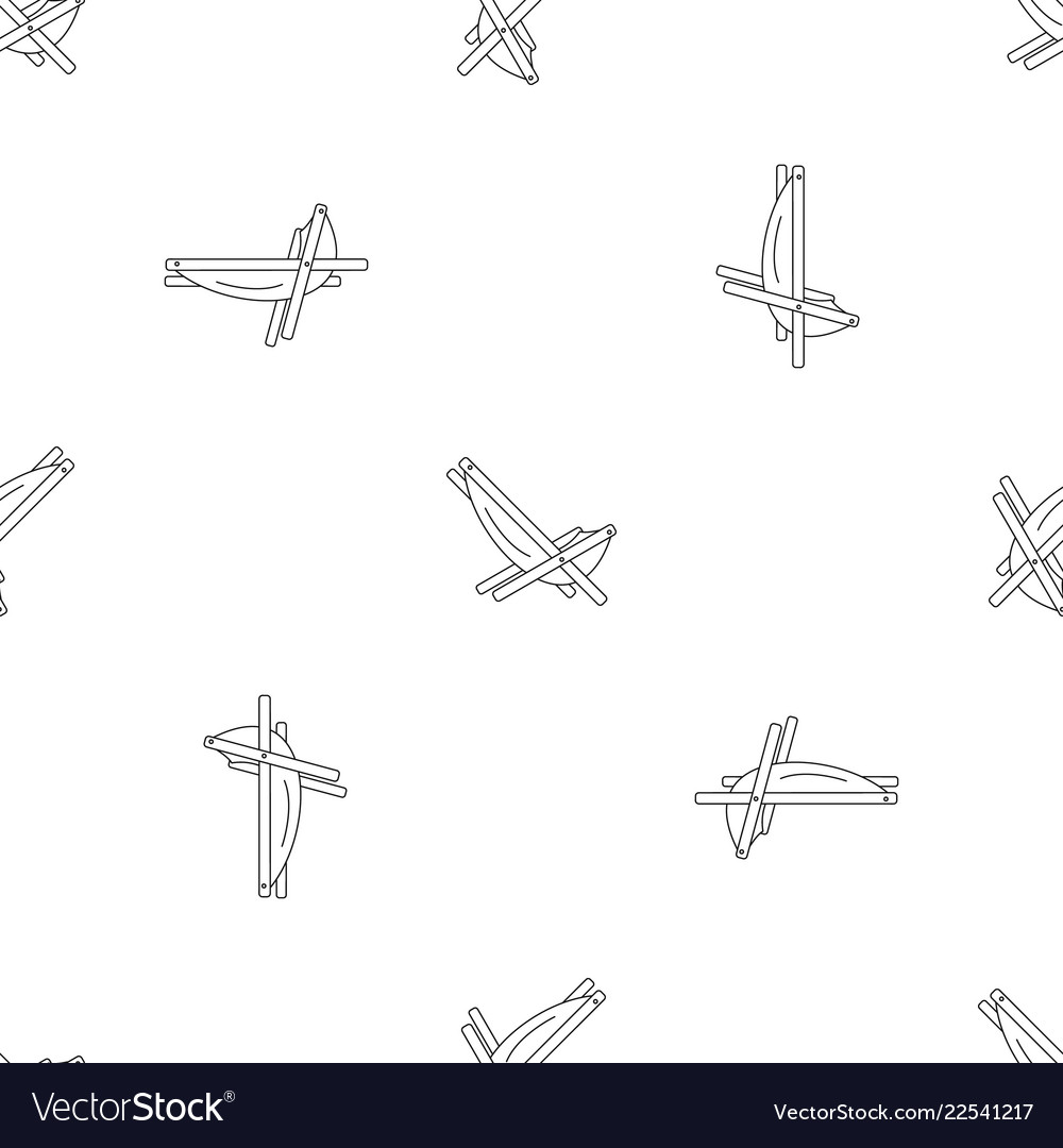 Hammock Chair Pattern Seamless Royalty Free Vector Image