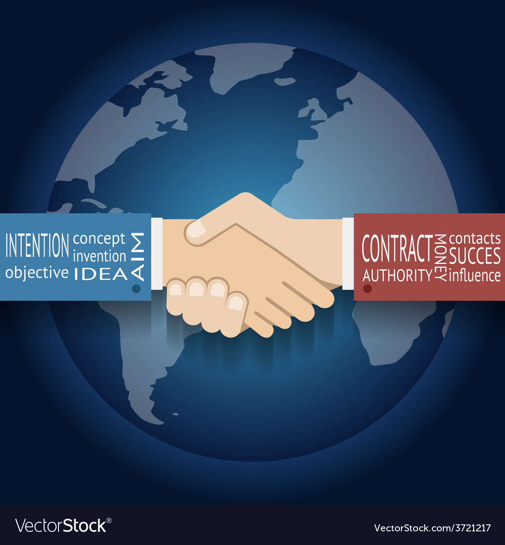 International Partnership Icon Businessman vector image