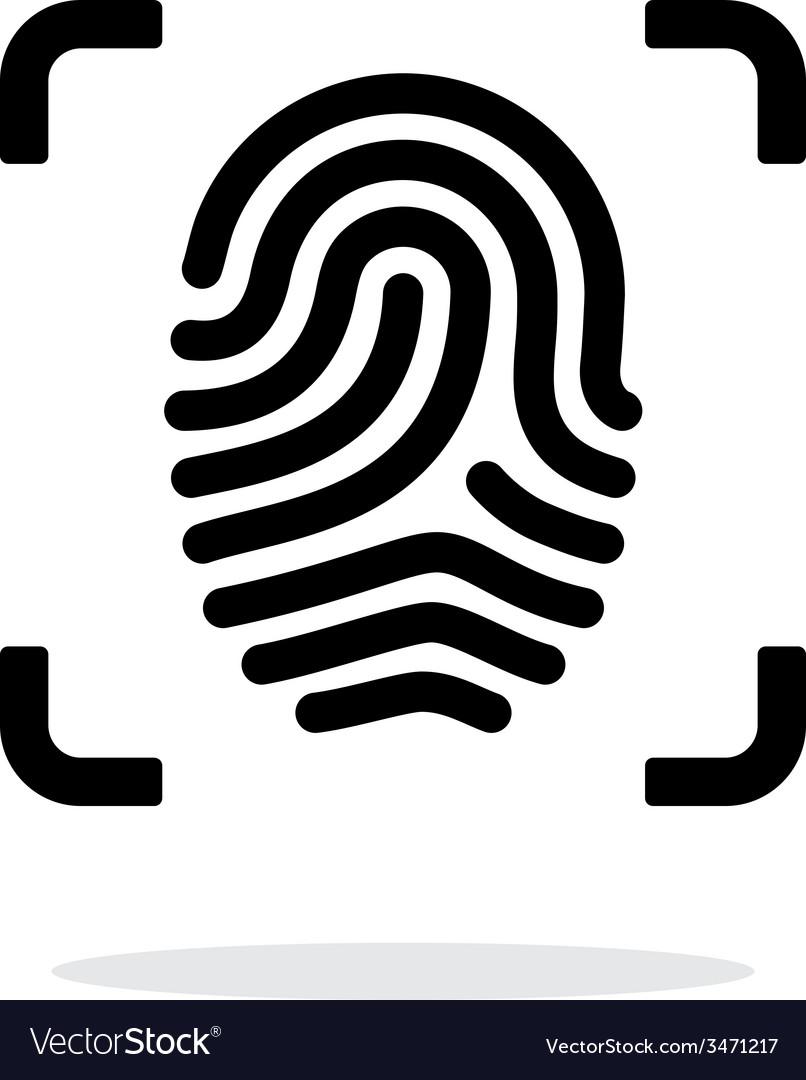 Scanning finger icon on white background