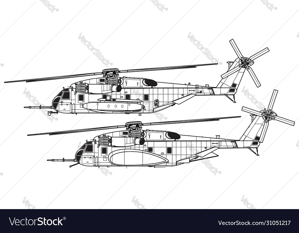 Sikorsky ch-53e super stallion vector