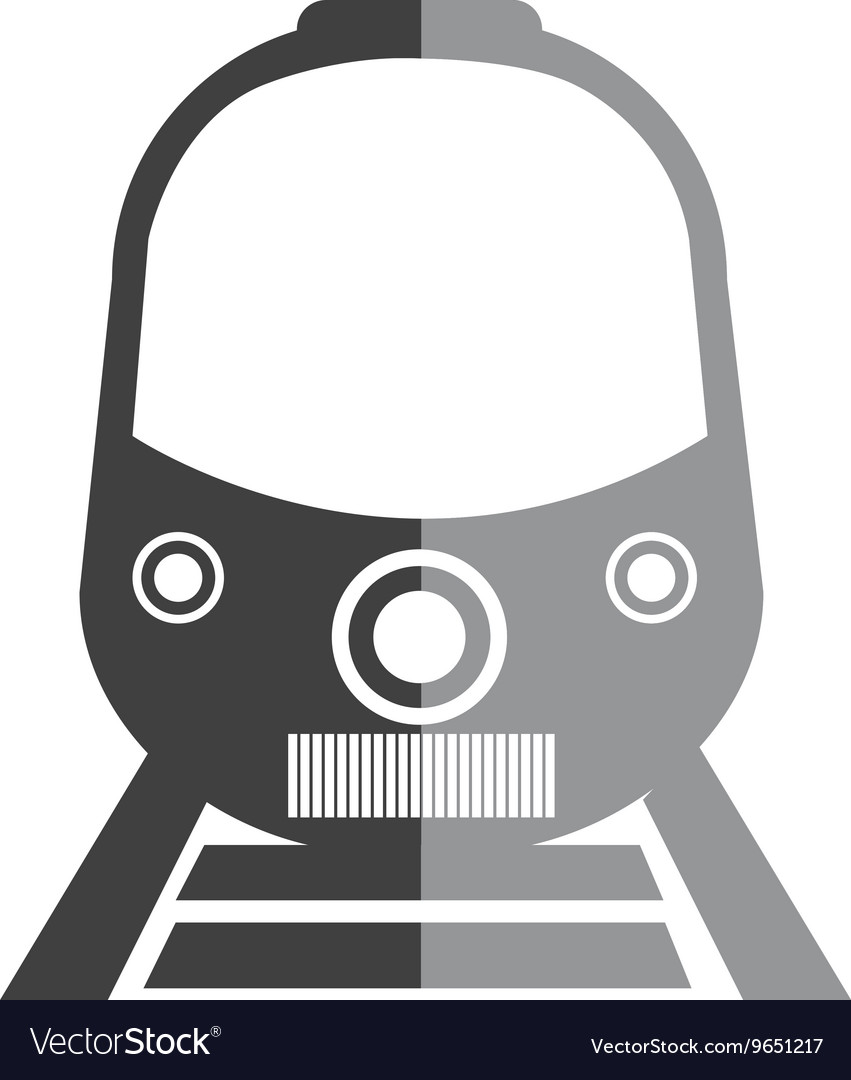 Train icon in black and white colors