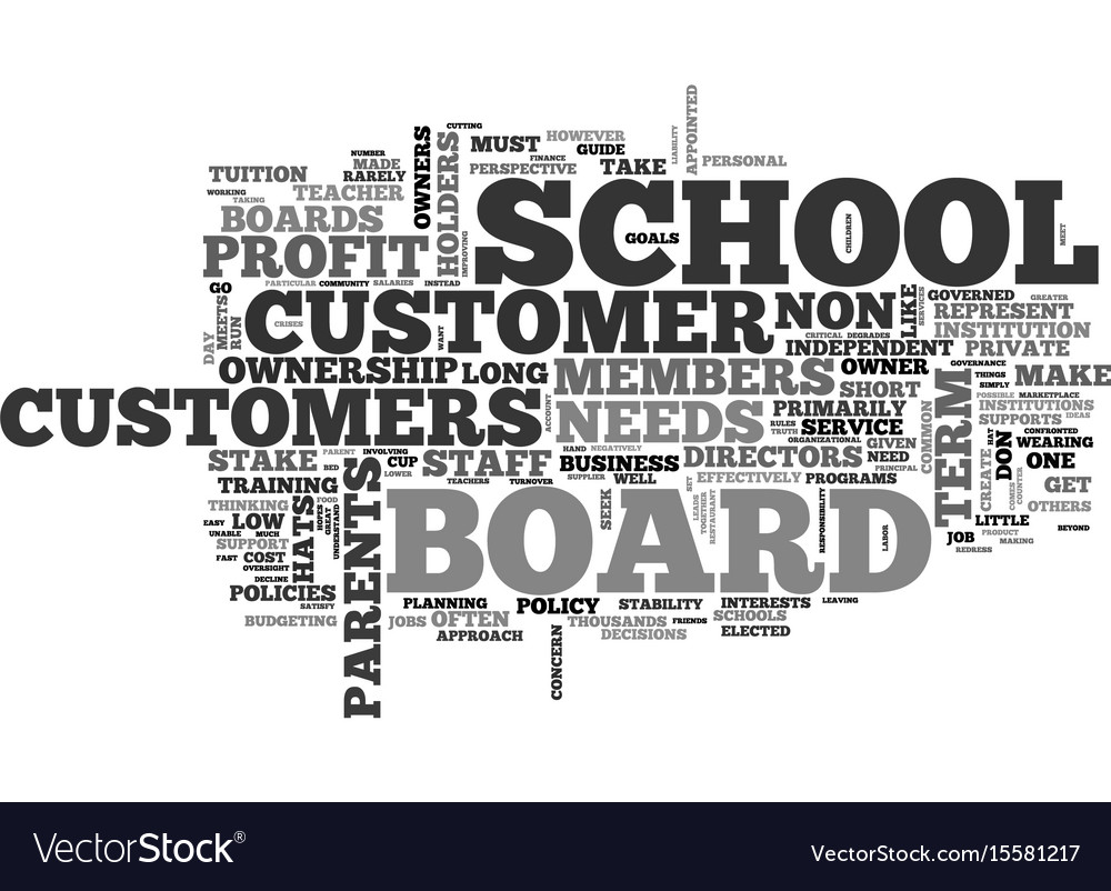 When customers are owners the non profit school vector image