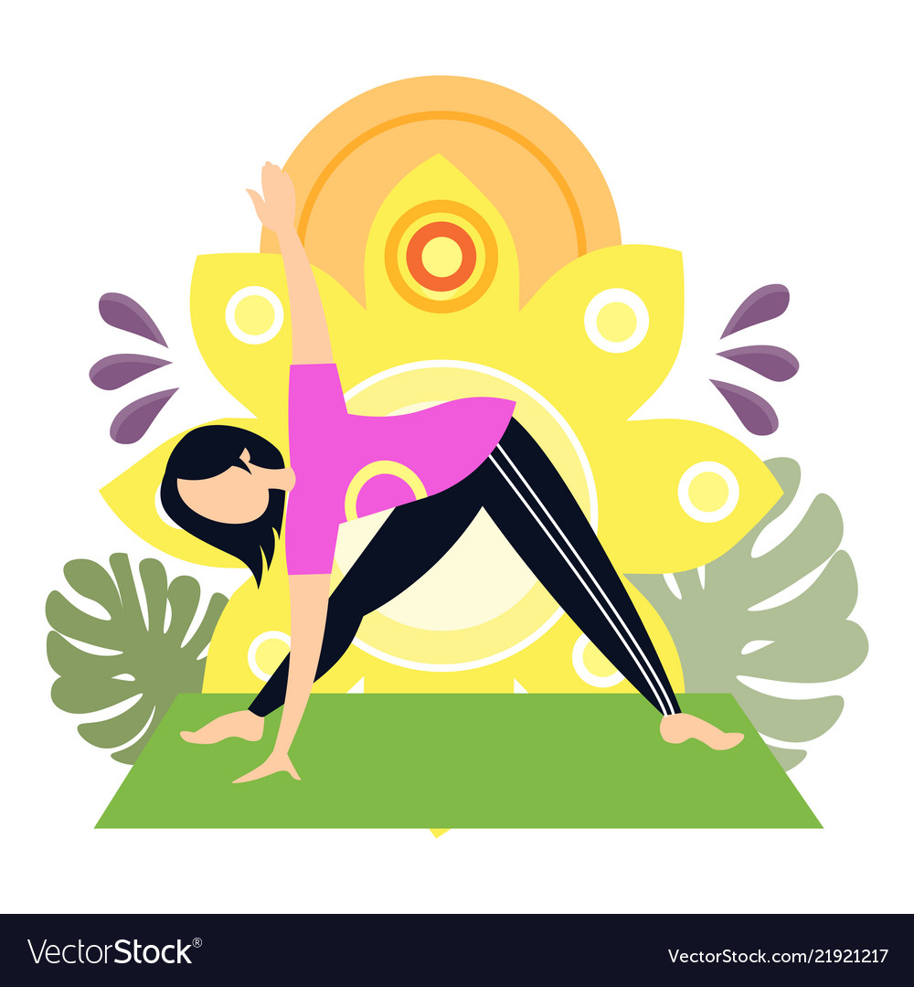 Woman yoga sport exercise