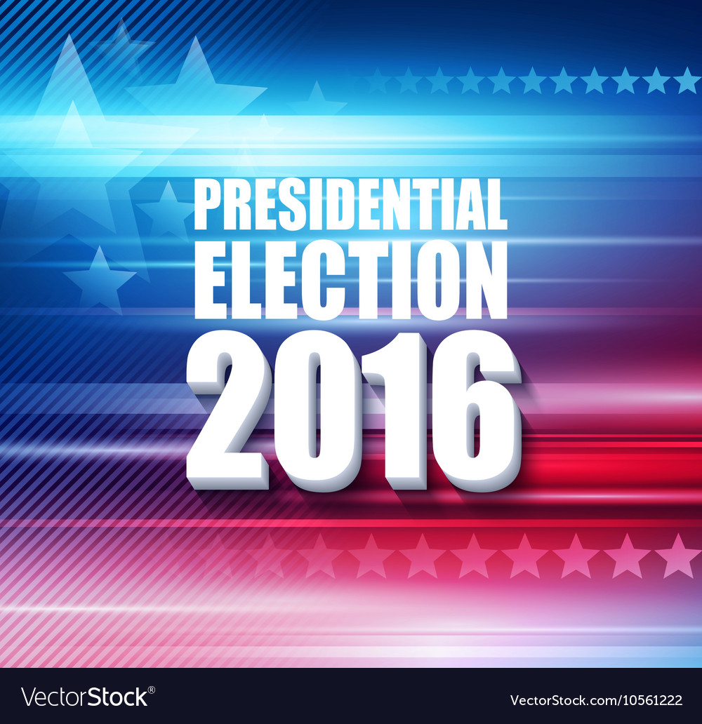 2016 USA presidential election poster