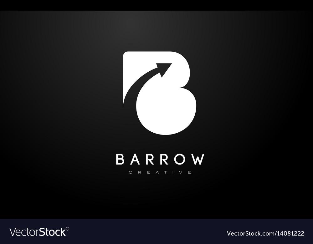 B logo b letter icon design vector image