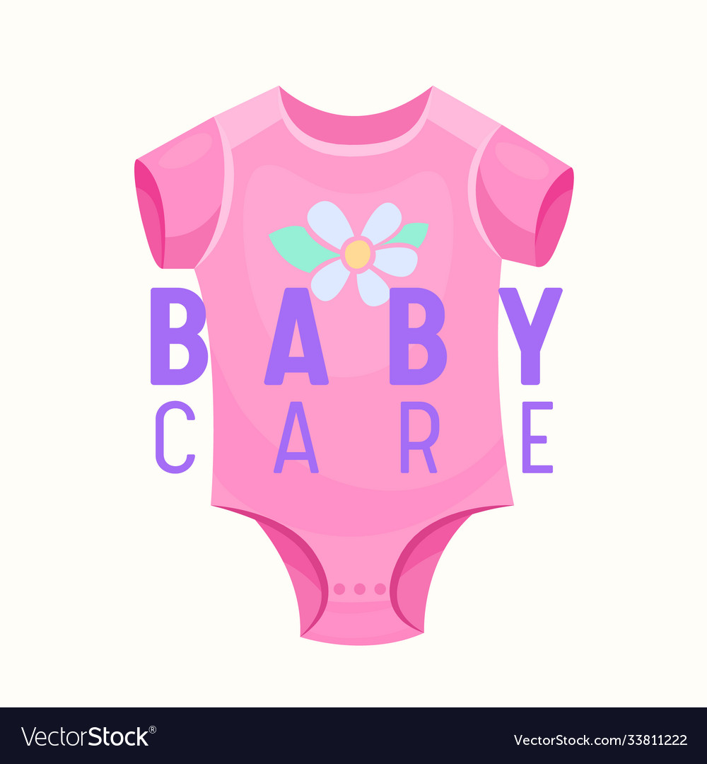 Bacare banner pink onesie clothing for infant