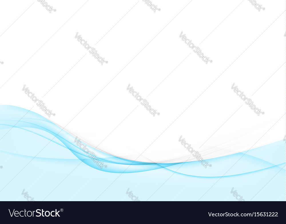 Bright blue abstract swoosh wave stream line vector image