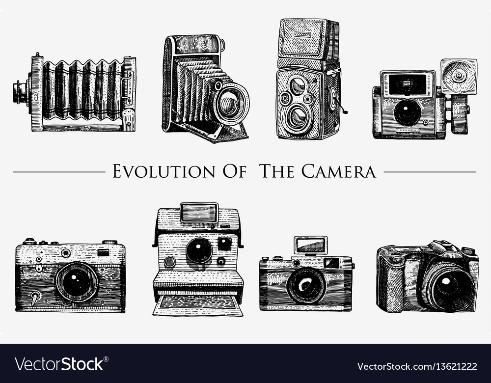 Evolution of the photo video film movie camera